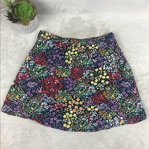 Gap Floral Casual Sheer Lined Mini Casual Skirt